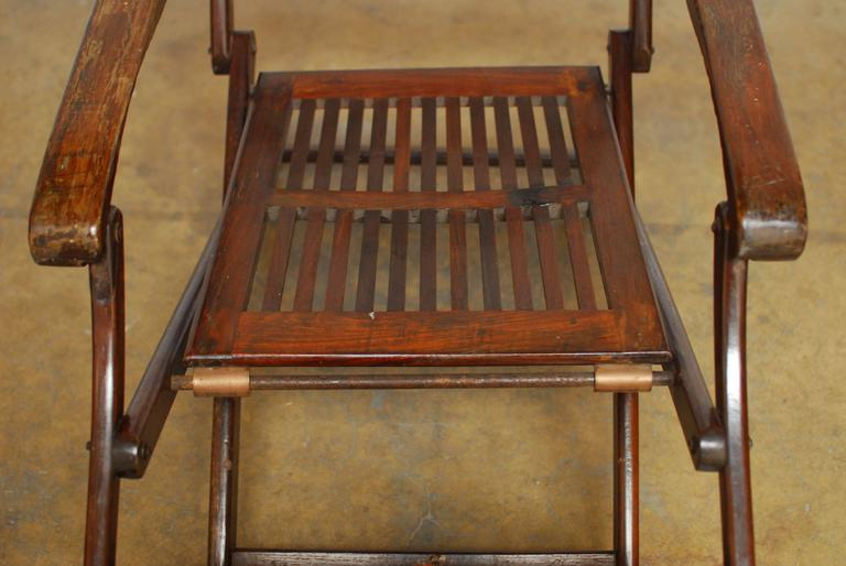 Antique Ocean Steamer Deck Chair 3 - Antique Ocean Steamer Deck Chair At 1stdibs