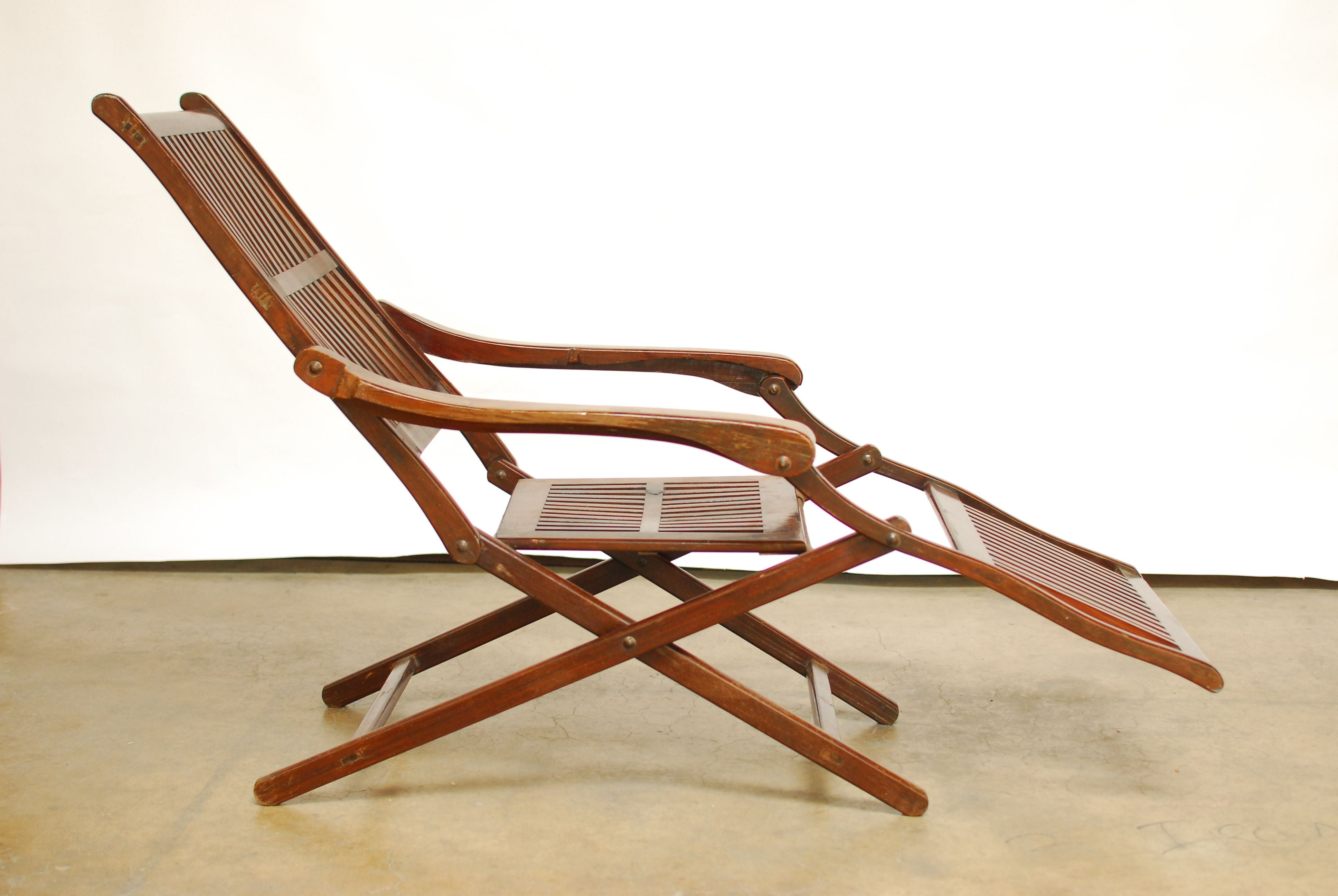 Prime Antique Ocean Steamer Deck Chair At 1Stdibs Theyellowbook Wood Chair Design Ideas Theyellowbookinfo