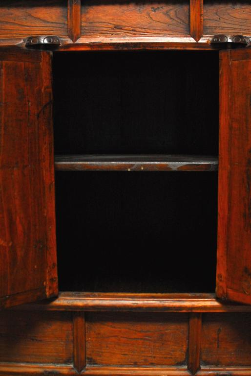 Wood Chinese Carved Two-Door Cabinet Chest For Sale