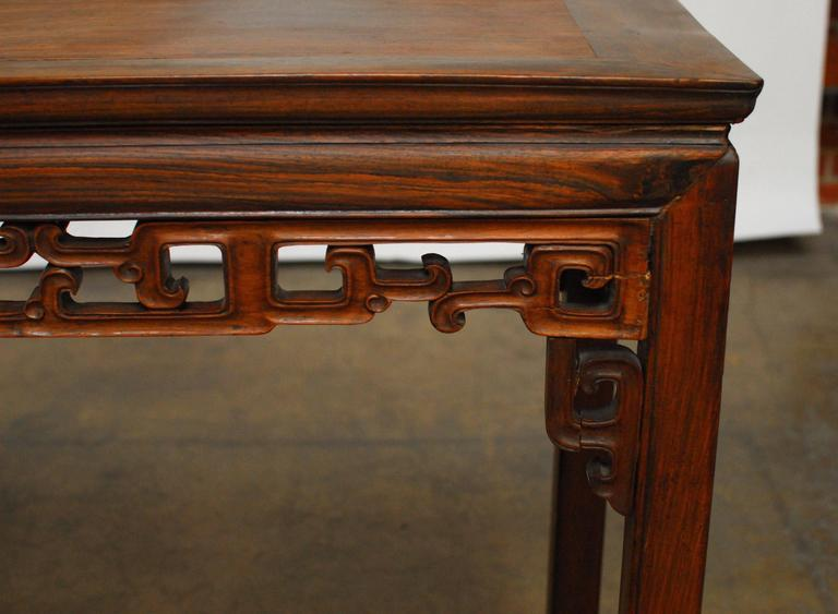 Qing 19th Century Chinese Rosewood Altar Table For Sale - 19th Century Chinese Rosewood Altar Table At 1stdibs