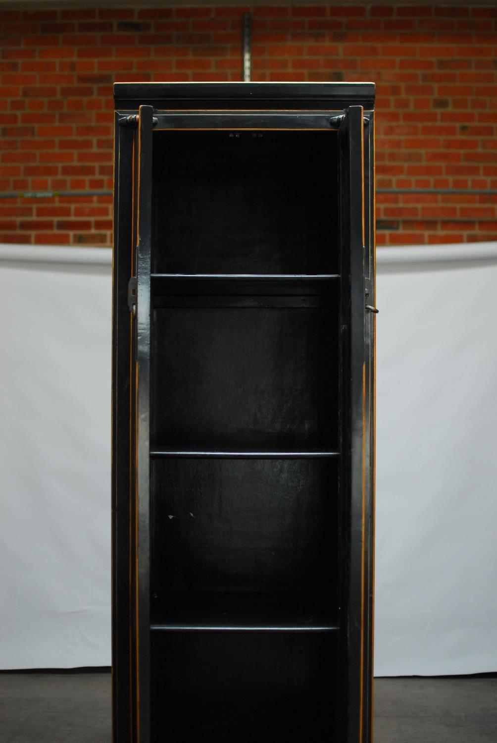 tall black cabinet black lacquer cabinet for at 1stdibs 26984