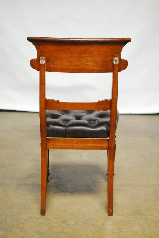William Iv Leather Dining Chairs At 1stdibs