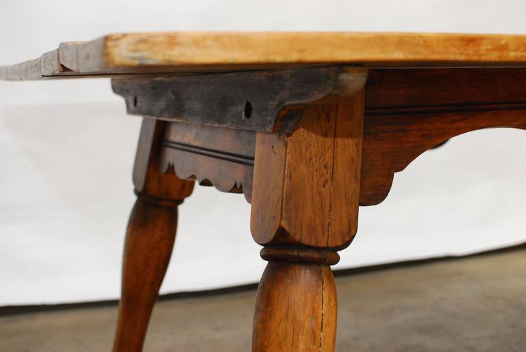 19th Century English Tavern Table With Horse Legs For Sale