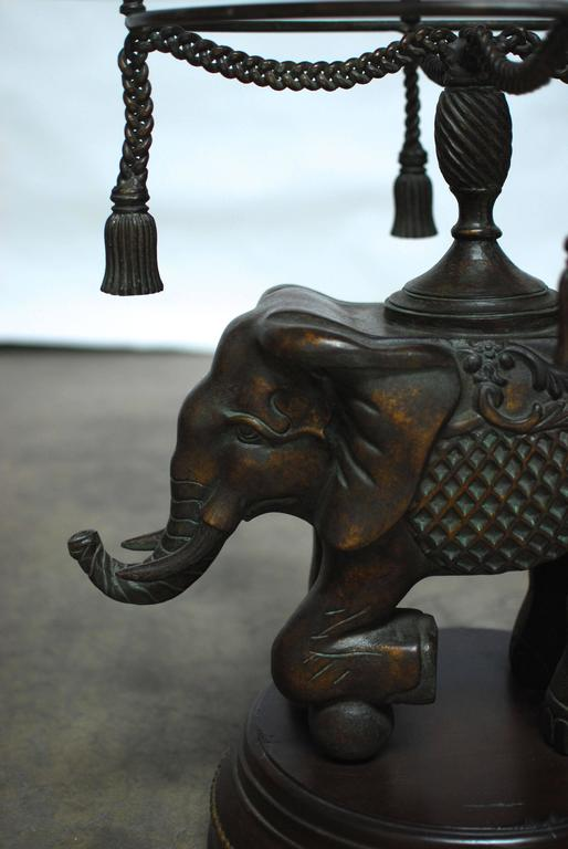 bronze elephant pedestal side table 2
