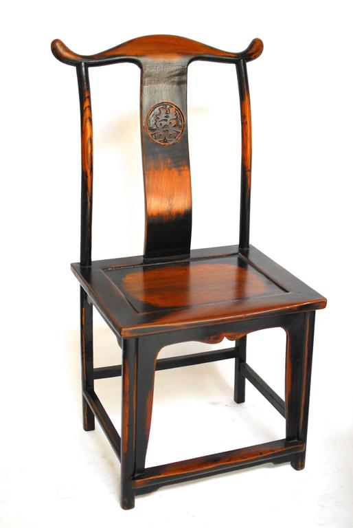 Chinese carved yoke back official 39 s hat chairs for sale at for Asian chairs for sale