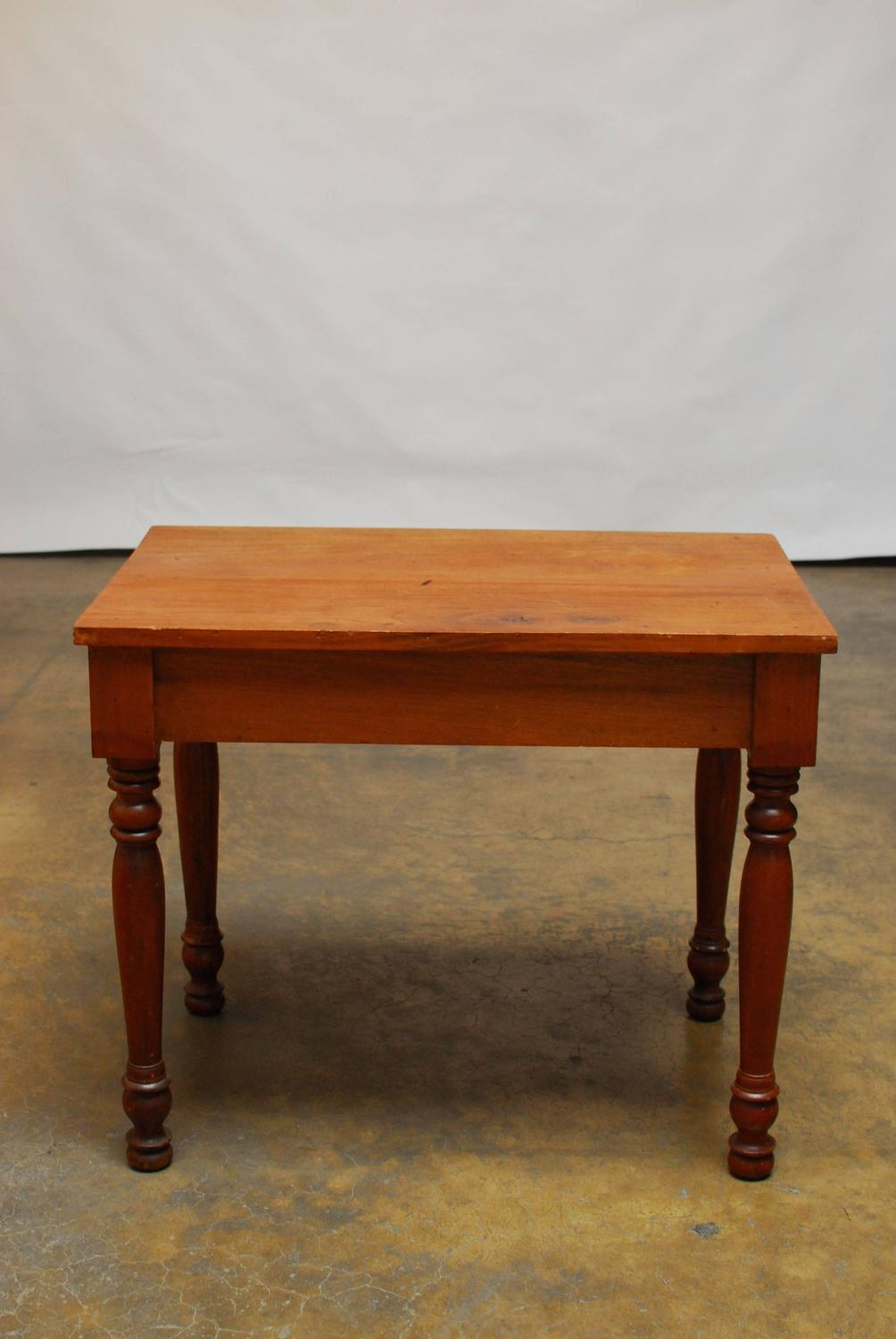 Primitive American Farm Table Desk For Sale at 1stdibs