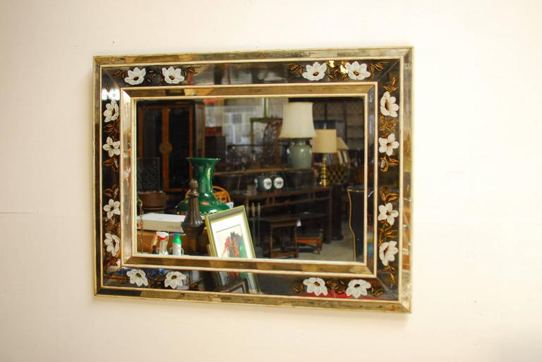 Antique French Reverse Painted 201 Glomis 233 Mirror At 1stdibs