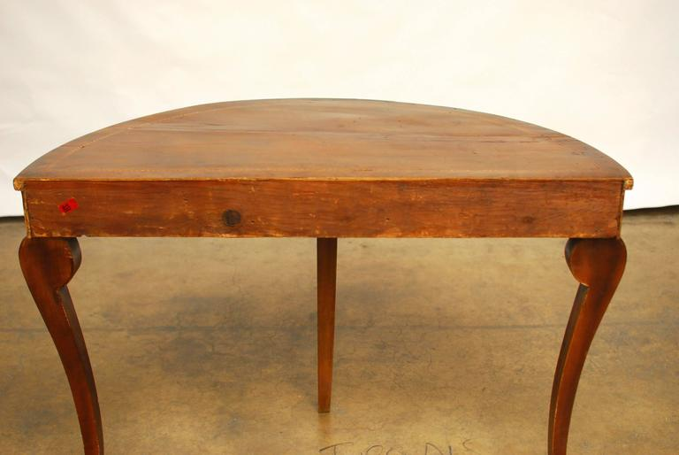 Georgian 18th Century Demilune Table For Sale