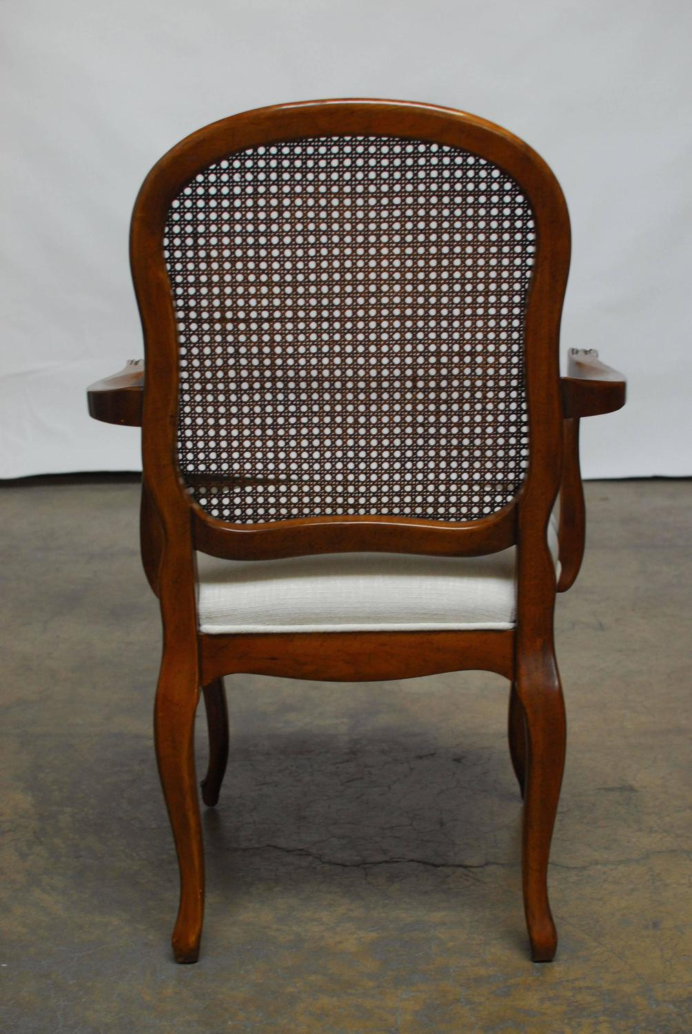Set Of Eight French Louis XV Style Cane Dining Chairs For Sale At 1stdibs