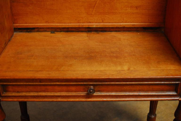 Regency 19th Century English Desk with Folding Privacy Walls For Sale