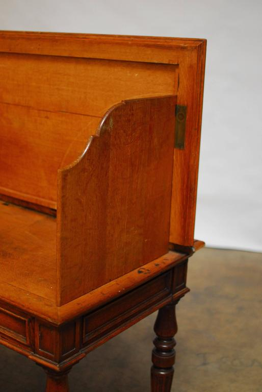 Hand-Crafted 19th Century English Desk with Folding Privacy Walls For Sale