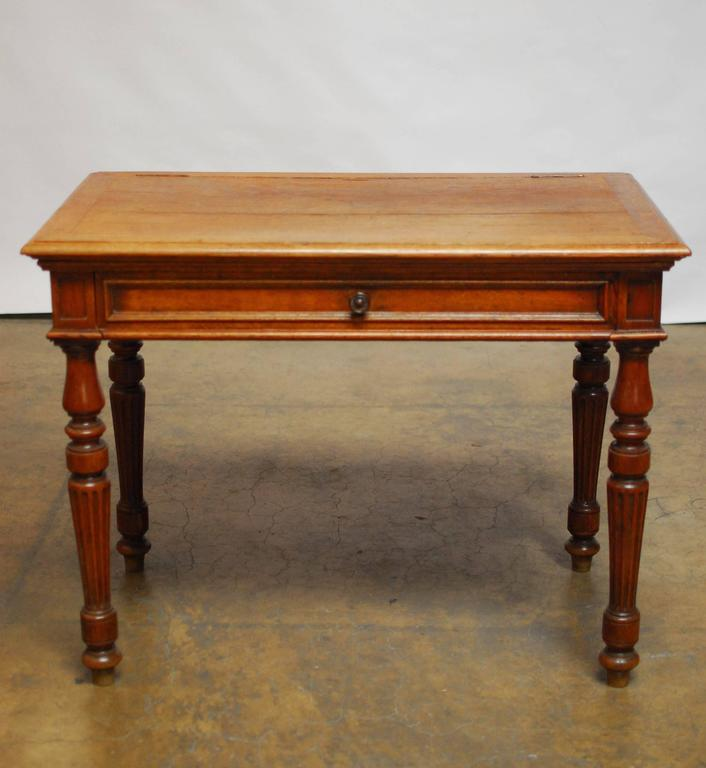19th Century English Desk with Folding Privacy Walls In Excellent Condition For Sale In Oakland, CA