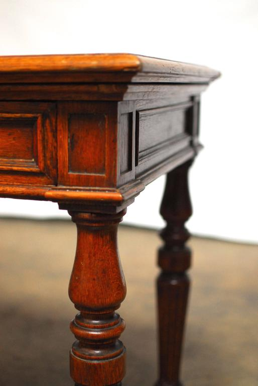 19th Century English Desk with Folding Privacy Walls For Sale 1