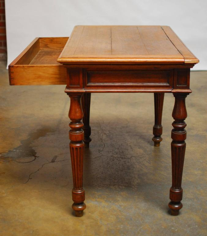 19th Century English Desk with Folding Privacy Walls For Sale 2