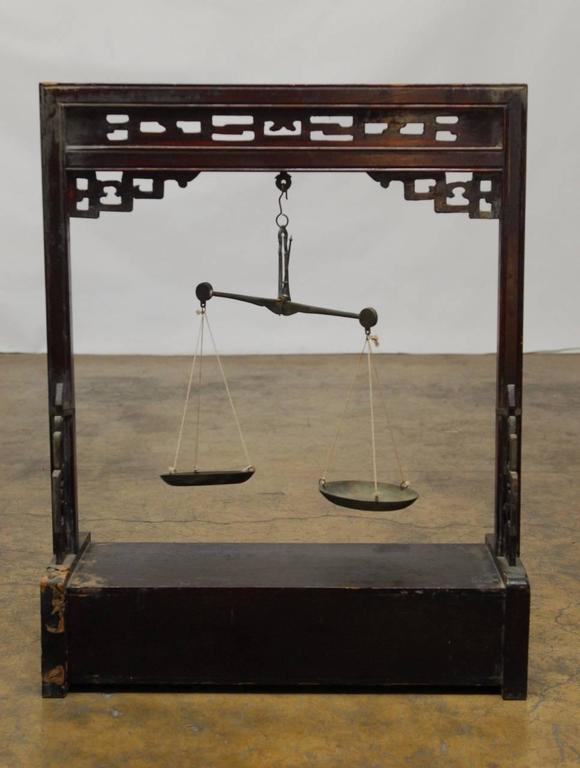 19th Century Chinese Apothecary Balance Scale Stand For Sale 3