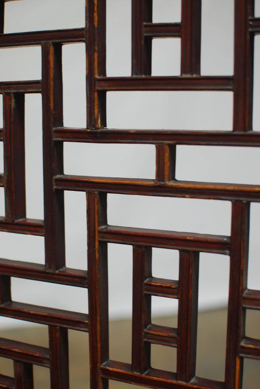 19th Century Chinese Lattice Panel Screen For Sale 2