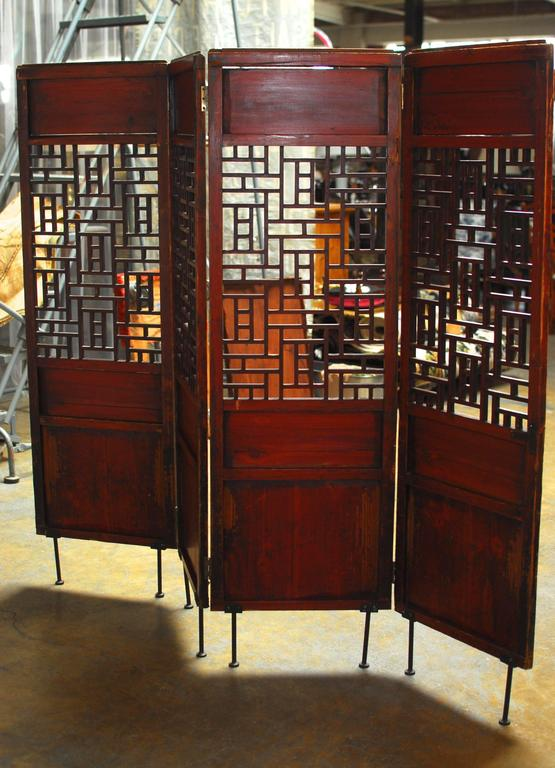 19th Century Chinese Lattice Panel Screen For Sale 3
