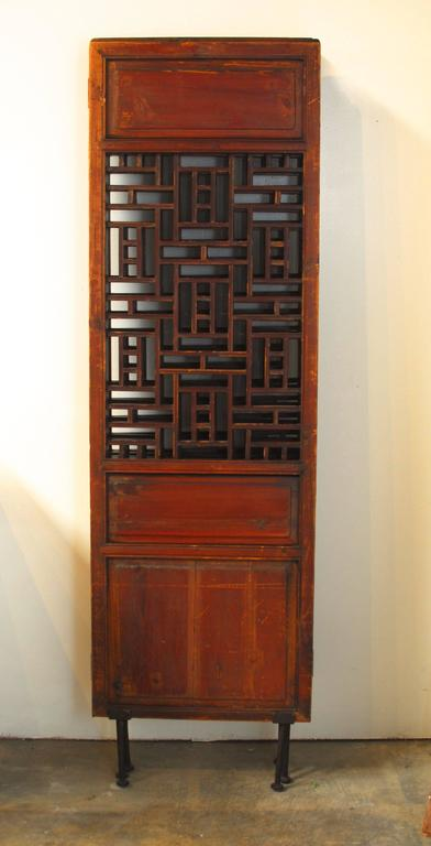 19th Century Chinese Lattice Panel Screen For Sale 4