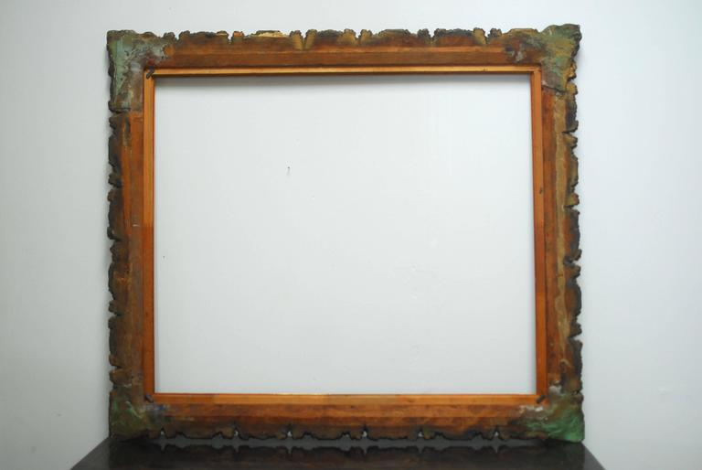 Italian 19th Century Carved Giltwood and Gesso Frame For Sale