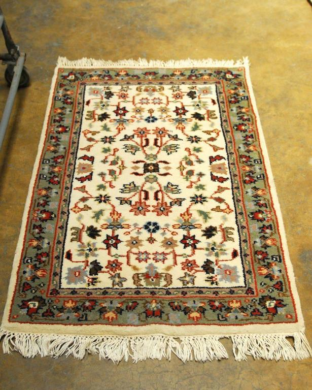 Hand-Knotted Indo Tabriz Floral Rug For Sale At 1stdibs