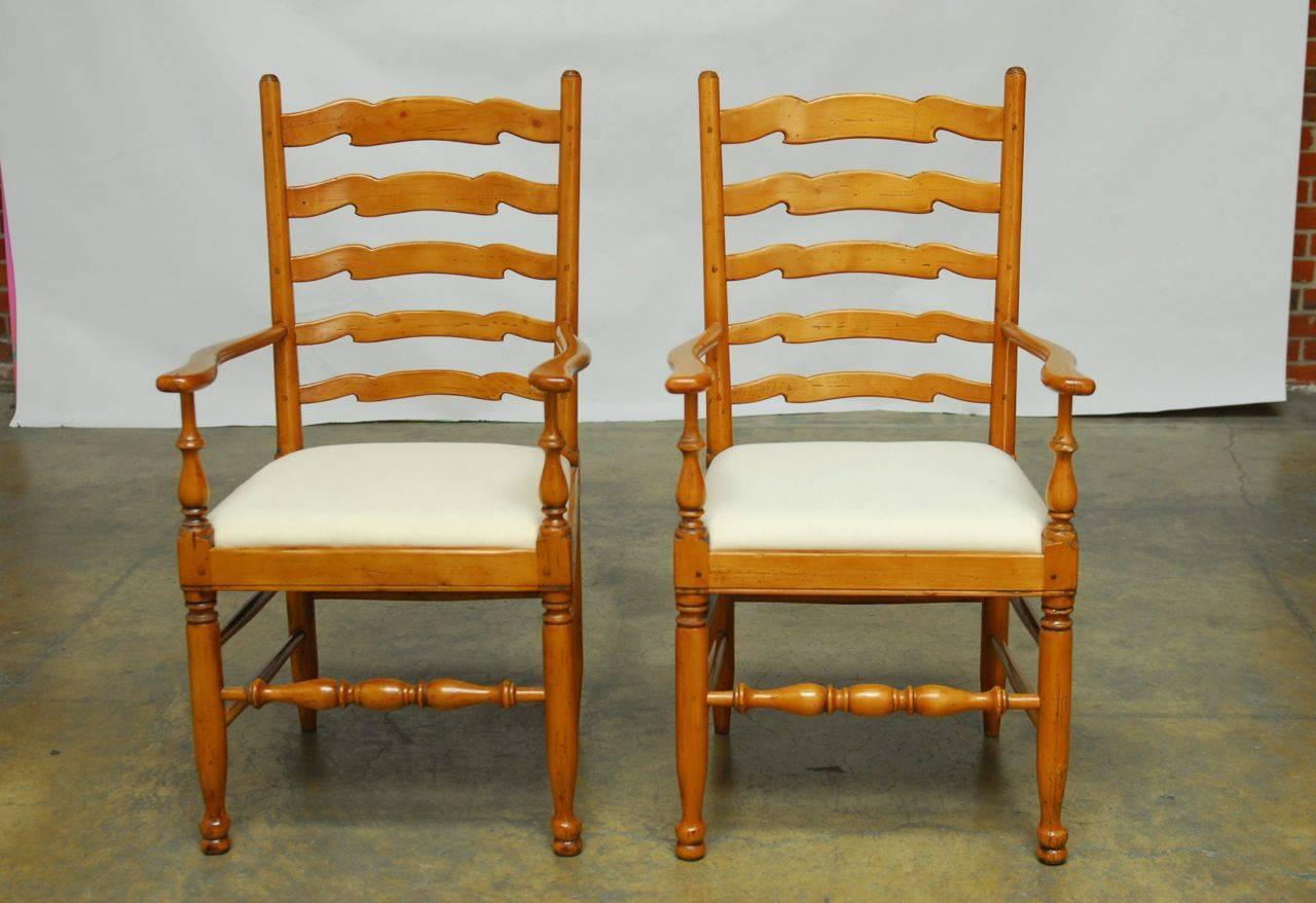 set of eight english ladder back dining chairs at 1stdibs