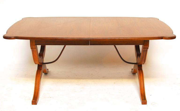 spanish colonial style trestle dining table at 1stdibs. Black Bedroom Furniture Sets. Home Design Ideas