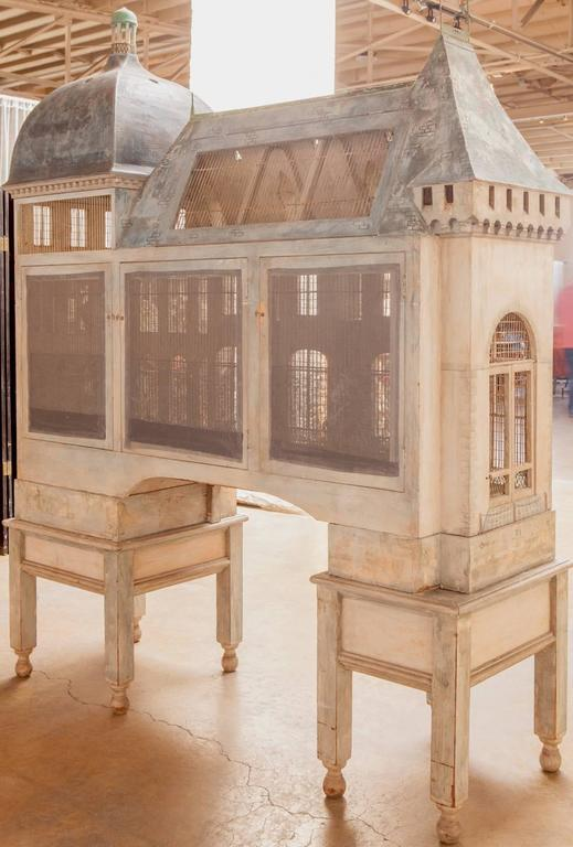 Important French Renaissance Birdcage by Eric Lansdown for William Gaylord For Sale 1