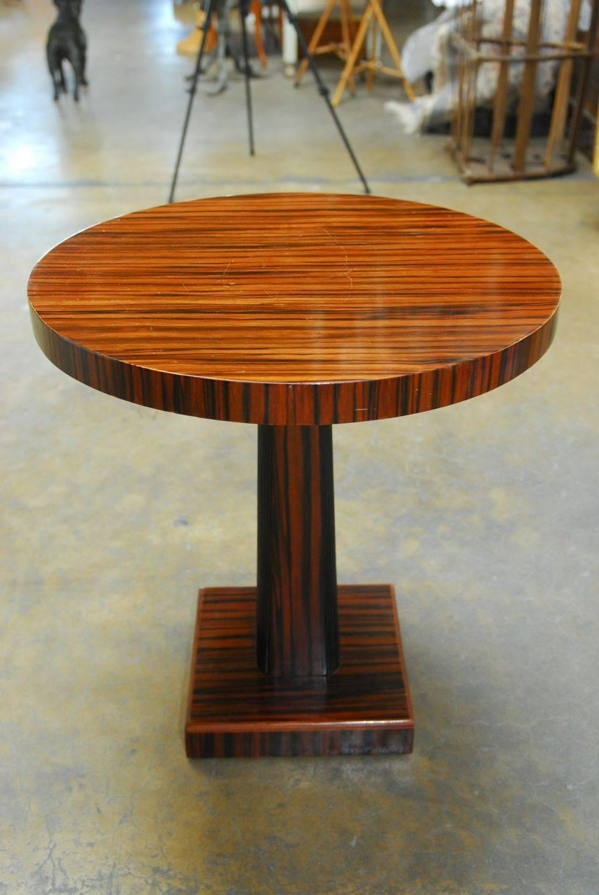 French art deco macassar wine table for sale at 1stdibs - Deco table campagne ...