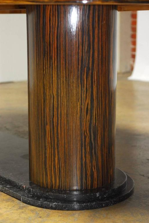 Modern Italian Zebrawood Conference Table or Dining Table For Sale 4