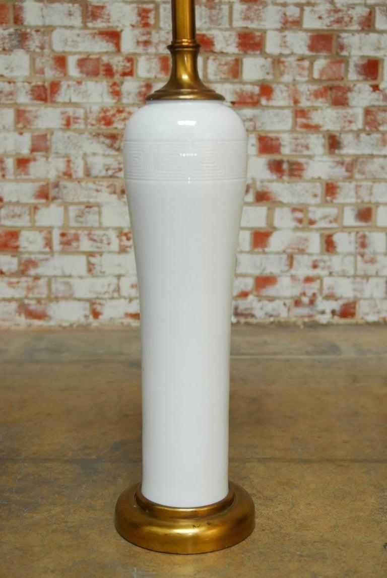 monumental chinese blanc de chine porcelain vase lamp for. Black Bedroom Furniture Sets. Home Design Ideas
