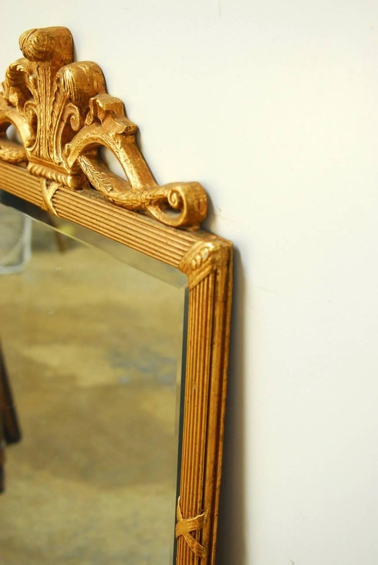 Louis XVI Style Giltwood Bevelled Mirror In Excellent Condition For Sale In Oakland, CA