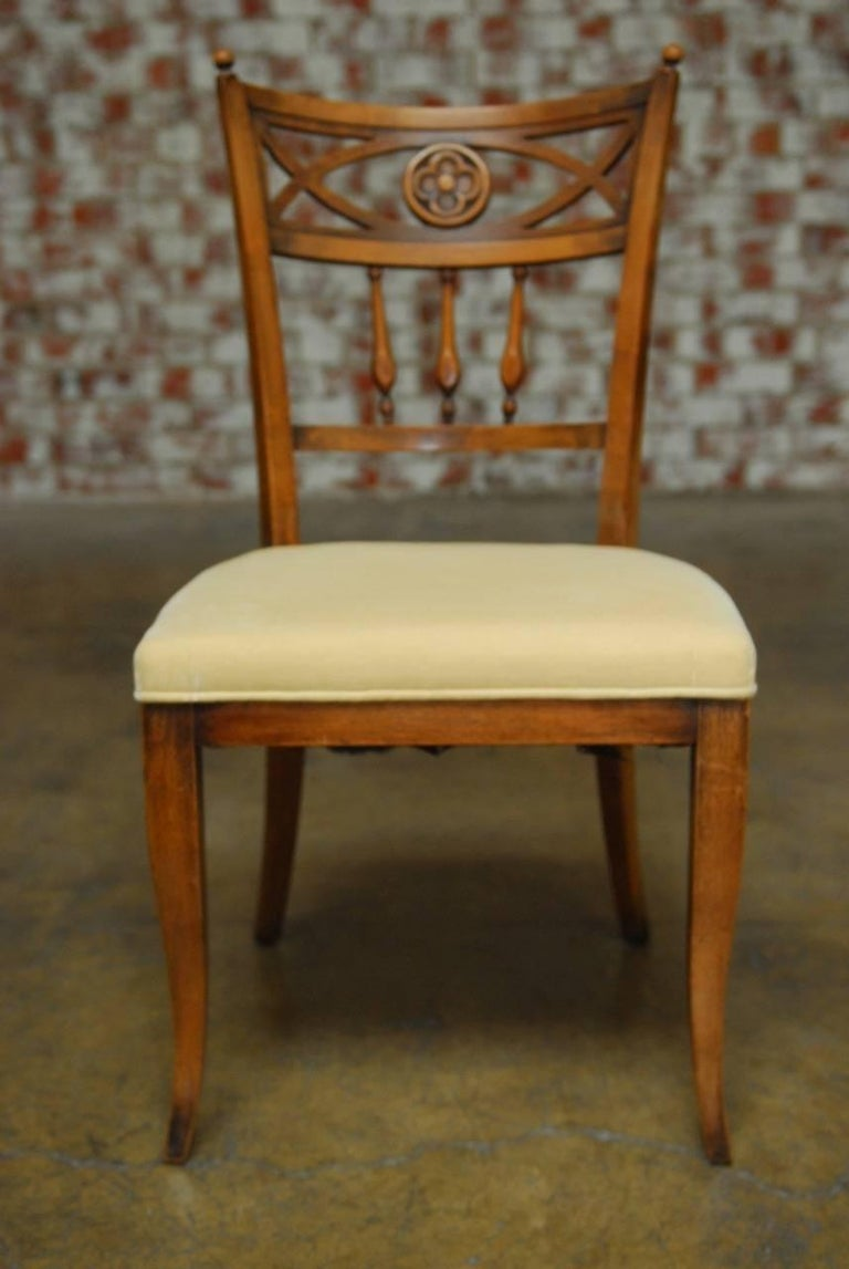 Set of six french provincial farmhouse dining chairs at for French farmhouse dining chairs