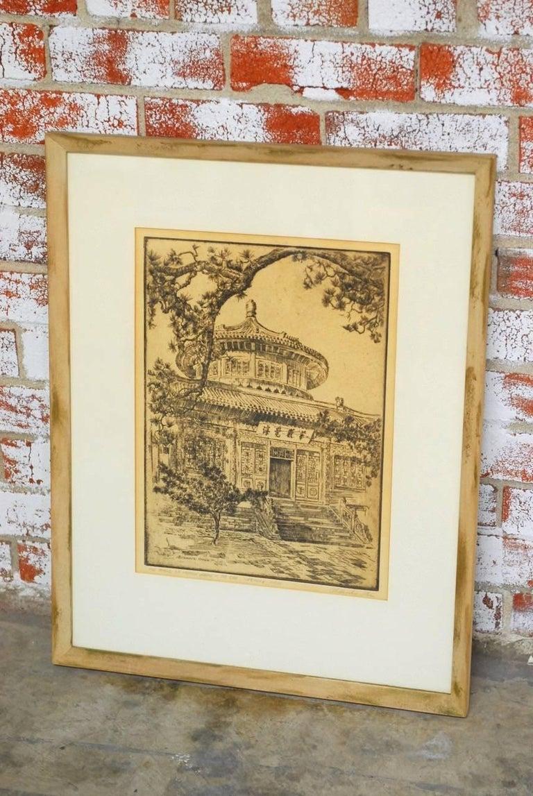 Mid-Century Modern Alexander Stern Etching Peking, China, 1932 For Sale
