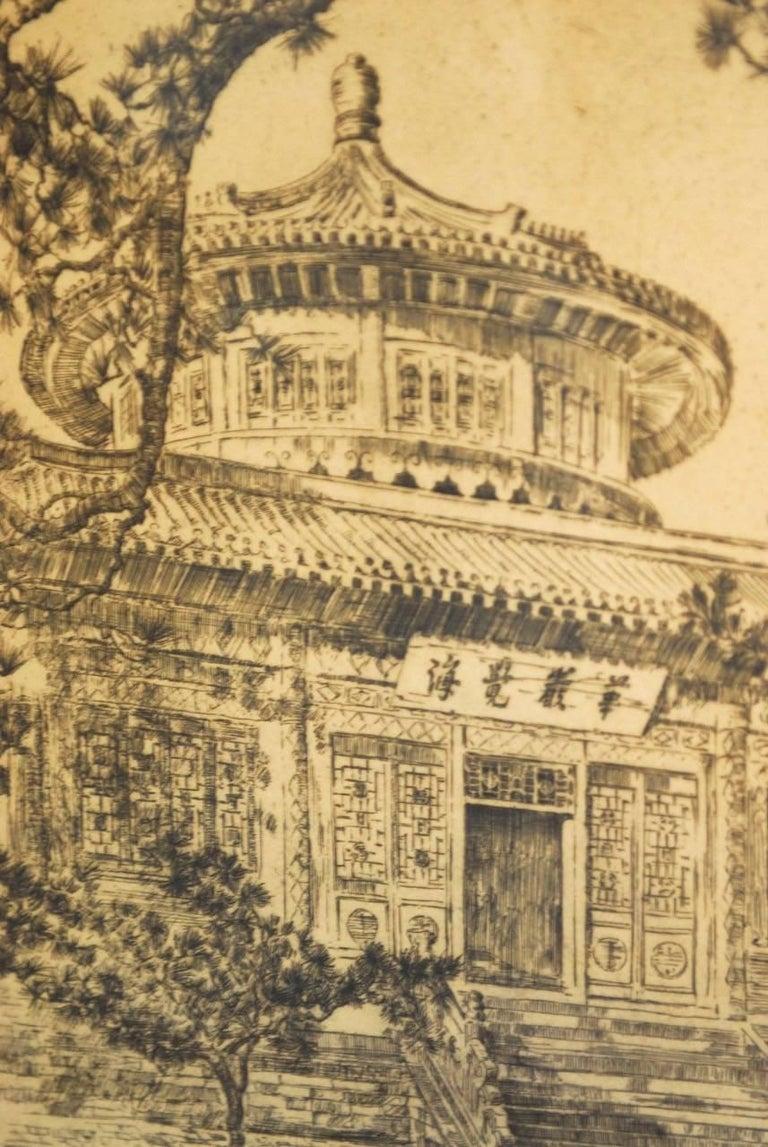 Beautiful Alexander Stern, (American 1904-1994), etching.