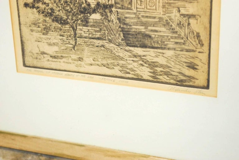 Alexander Stern Etching Peking, China, 1932 In Excellent Condition For Sale In Rio Vista, CA