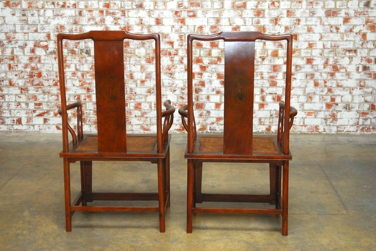 Pair of Chinese Ming Style Guanmaoyi Official's Armchairs For Sale 3