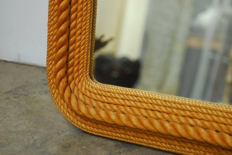 Glass Monumental Maritime Nautical Rope Knot Mirror  For Sale