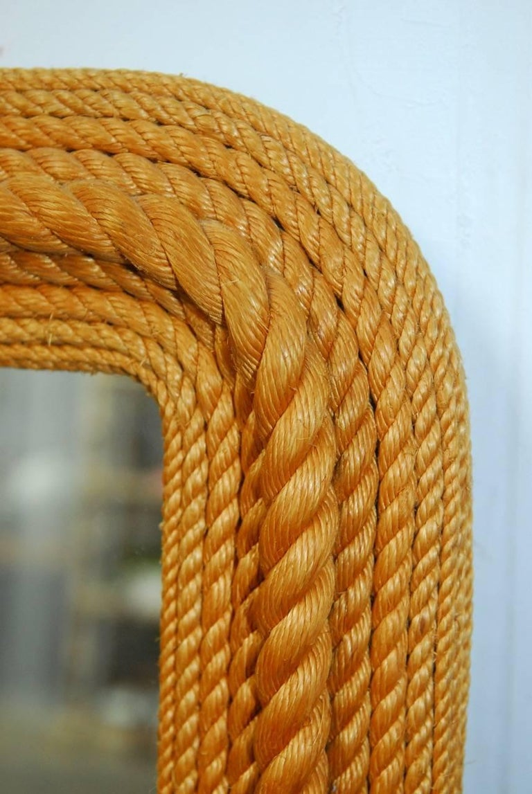 Hand-Crafted Monumental Maritime Nautical Rope Knot Mirror  For Sale