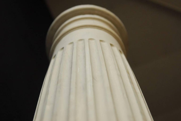 Pair of Neoclassical Fluted Wood Columns For Sale 4