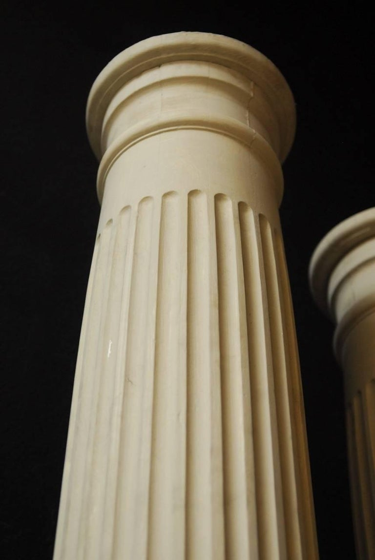 Pair of Neoclassical Fluted Wood Columns For Sale 2