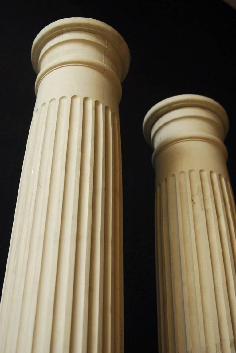 Pair of Neoclassical Fluted Wood Columns For Sale 3