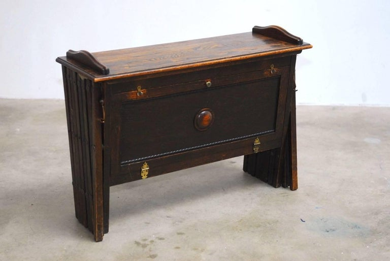 Wwi British Officer S Campaign Field Cot Desk Or Cabinetta At 1stdibs
