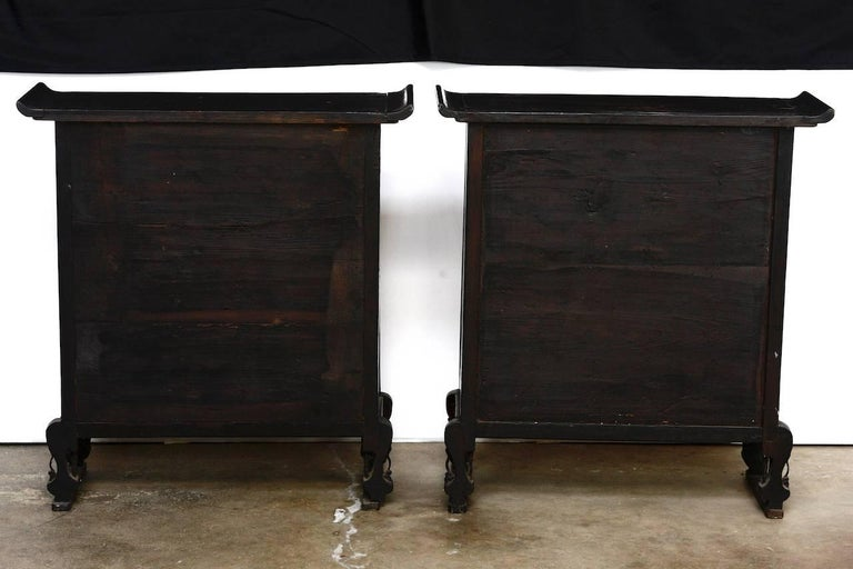 Pair of 19th Century Qing Dynasty Apothecary Cabinets or Chests  For Sale 1