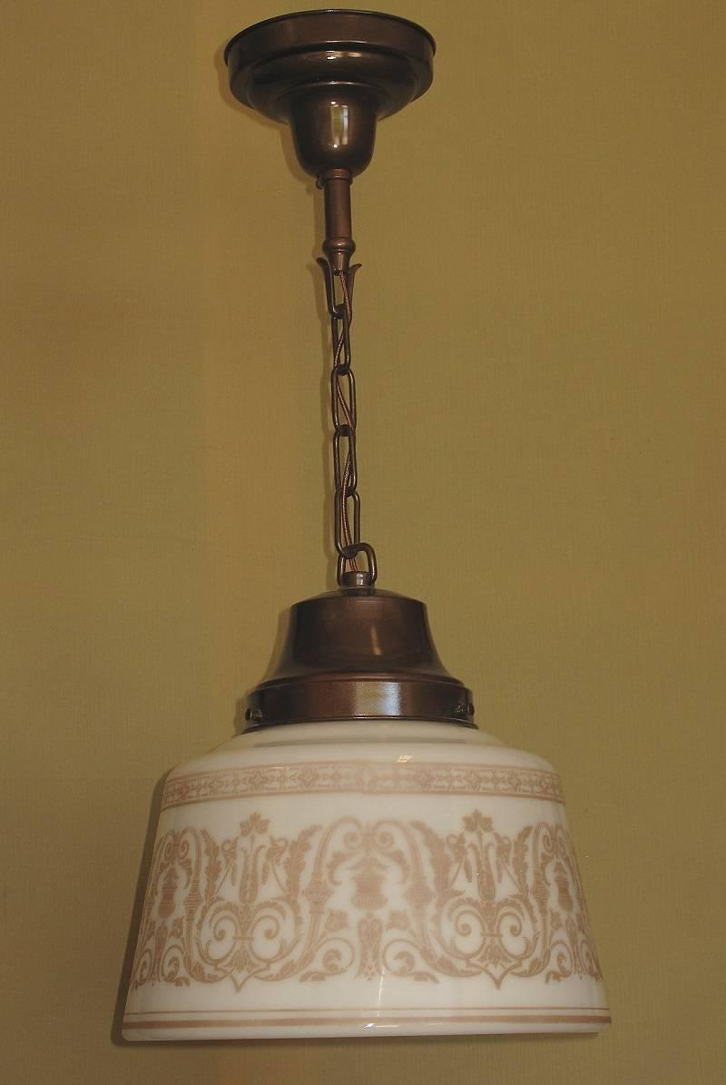 Glass Drum Fixture With Classical Design 1920s 1930s At 1stdibs
