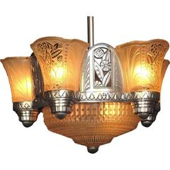 Late 1920s Art Deco Chandelier