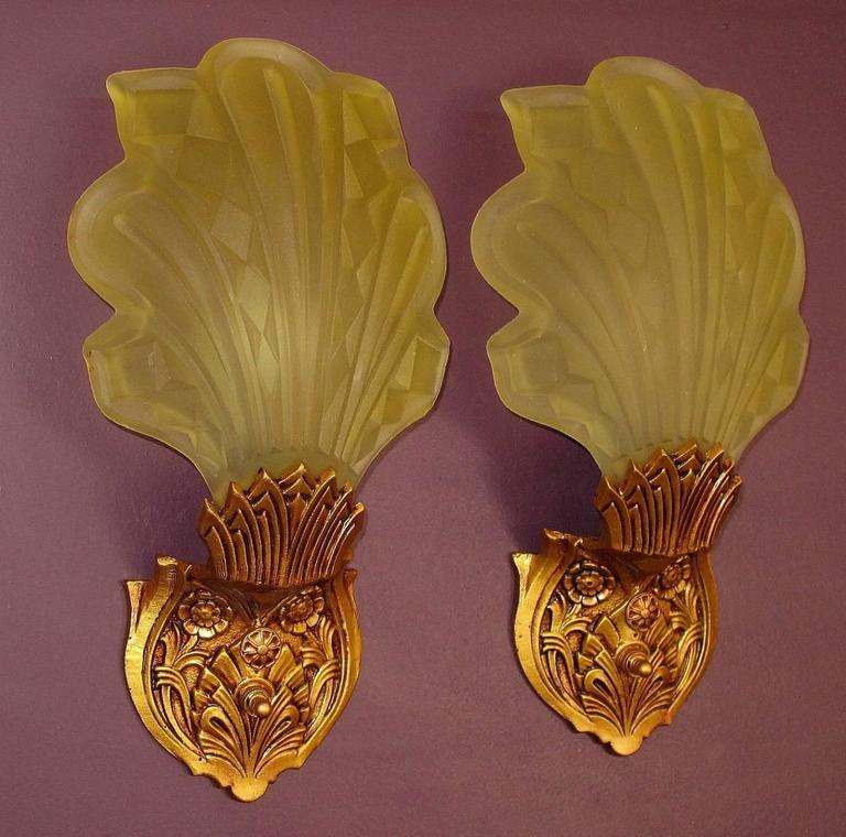 Art Deco Wall Sconces late 1920s-early 1930s art deco wall sconces for sale at 1stdibs