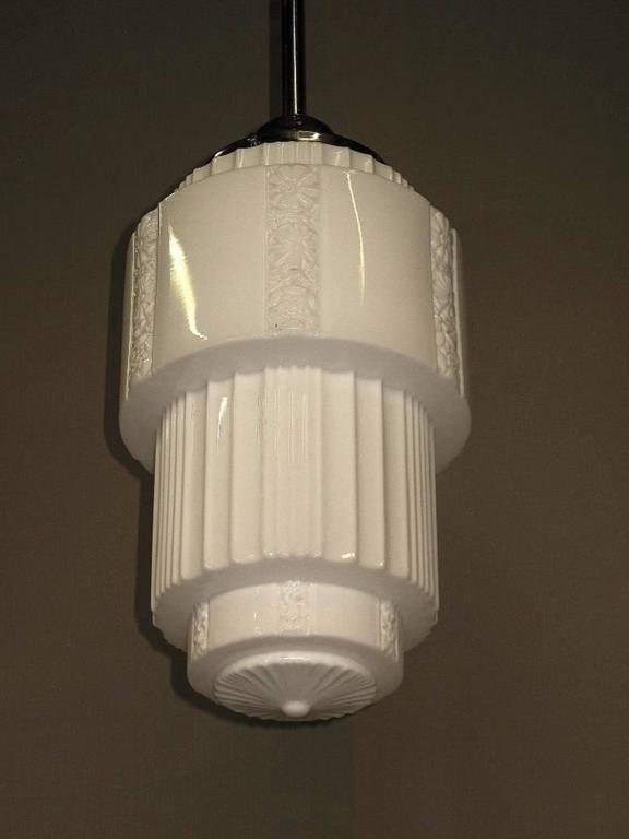 20th Century Large Department Store Schoolhouse Electric Ceiling Fixture For Sale