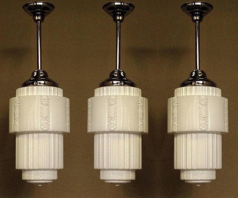 Large Department Store Schoolhouse Electric Ceiling Fixture In Excellent Condition For Sale In Prescott, AZ