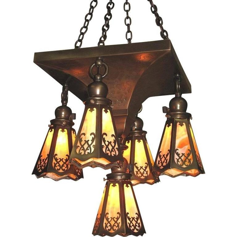 1907 Craftsman Centerpiece Fixture For Sale At 1stdibs