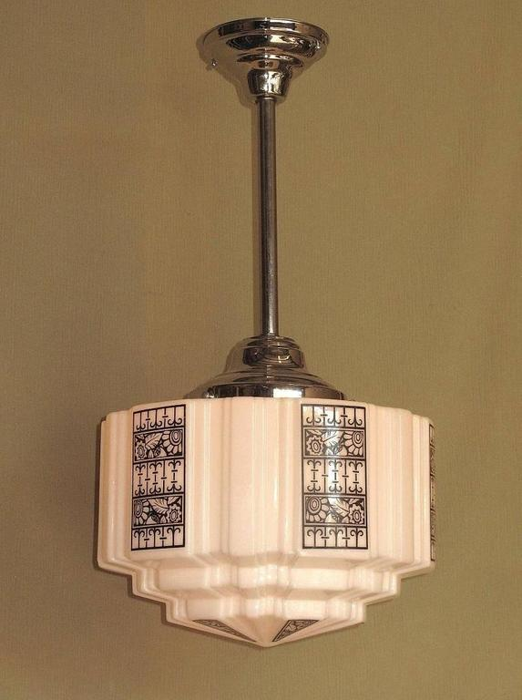 Art Deco Design Church Fixture Mid Size 1920s 1930s For